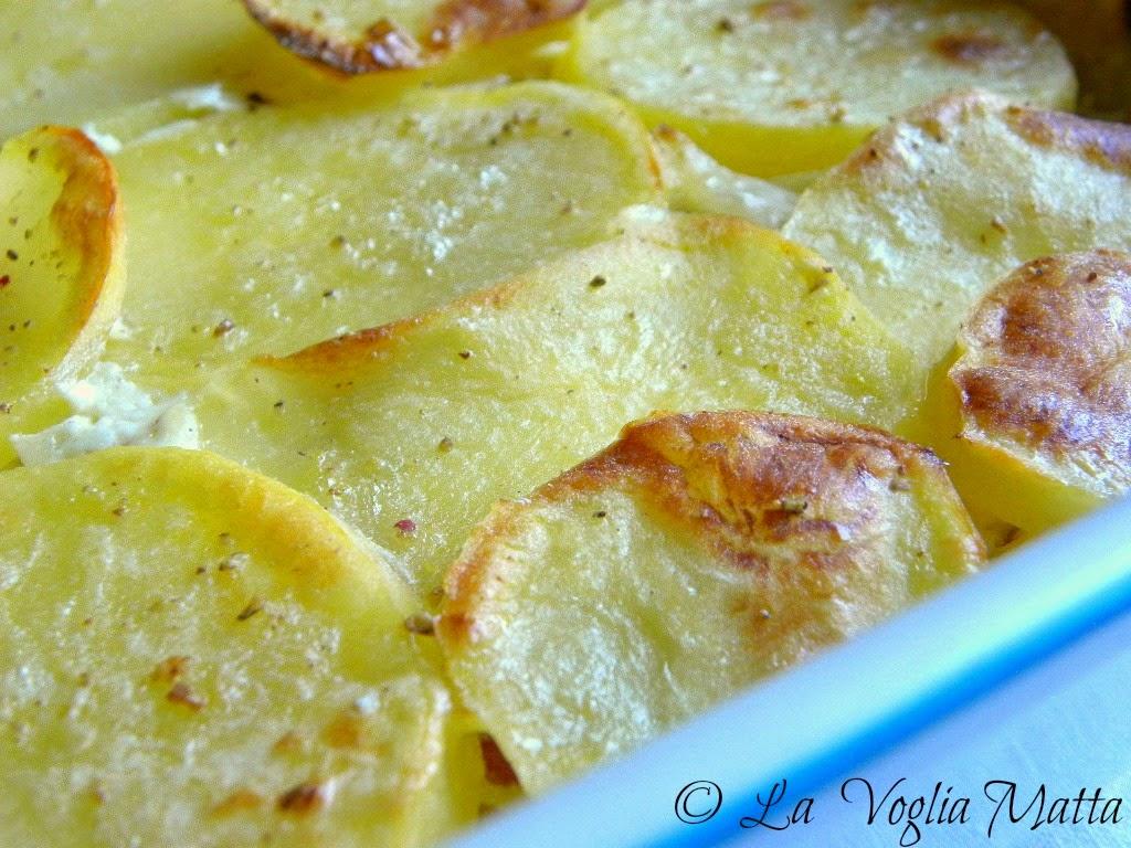 patate al gratin con speck e stracchino