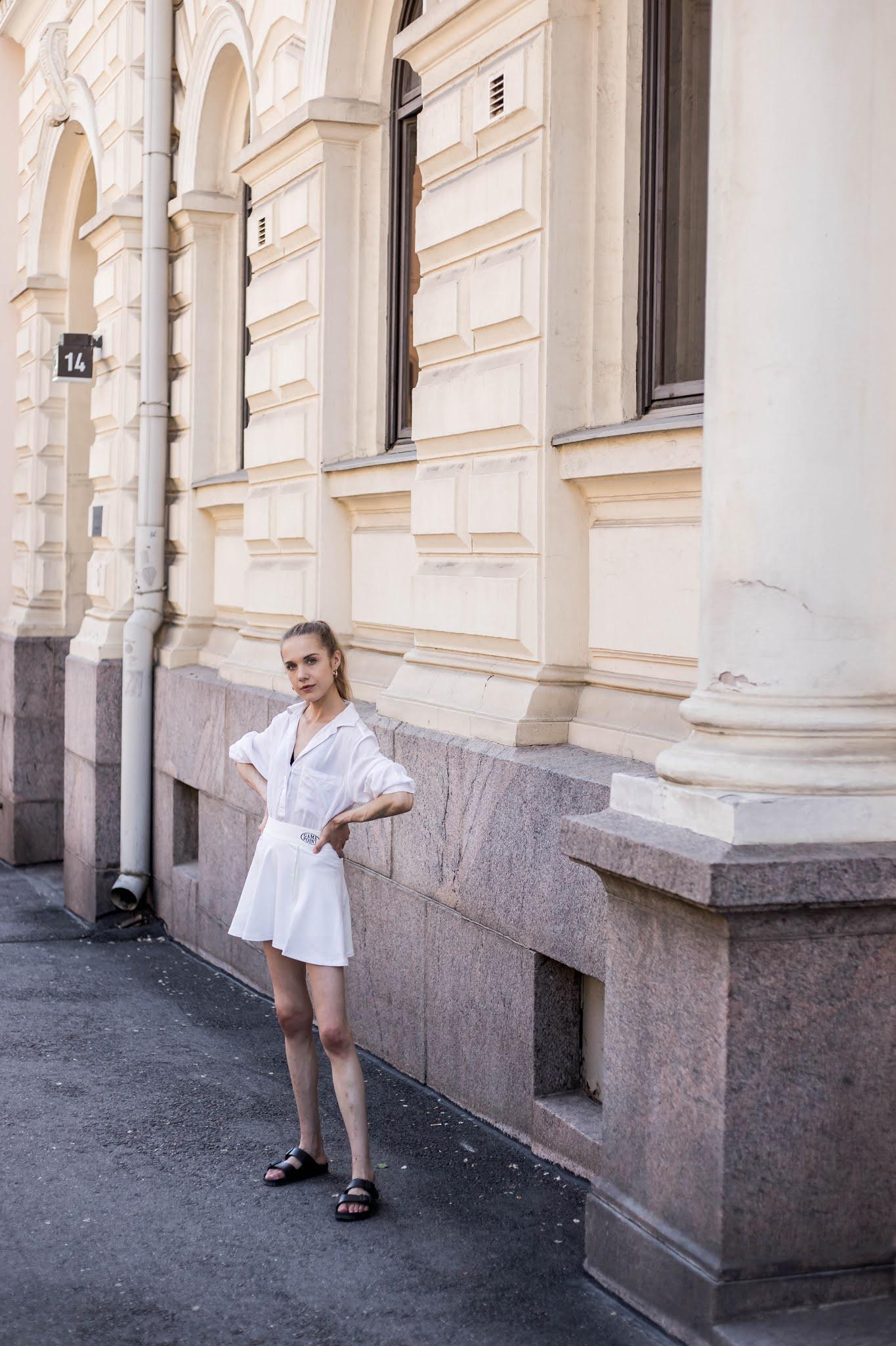 Kuinka yhdistää tennishame // How to wear a tennis skirt