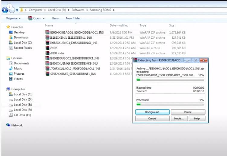 متطلبات تشغيل أداة firmware سامسونج