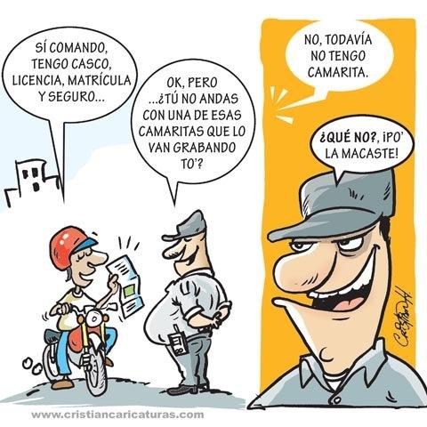 Caricatura: ¿Andas armado con la camarita?