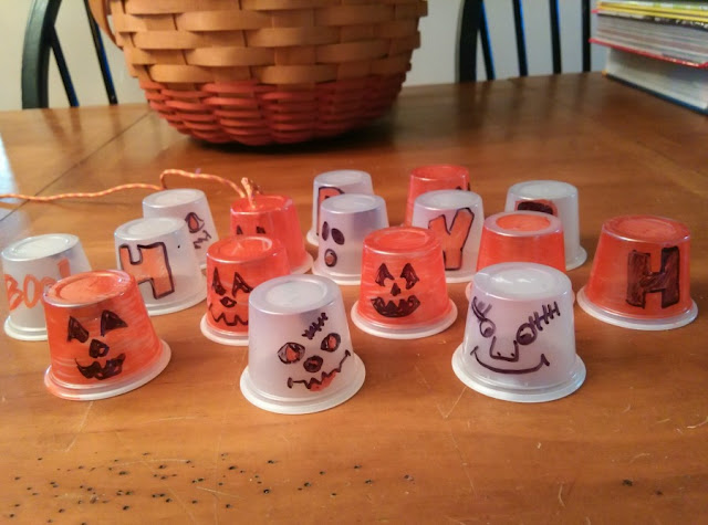 plastic cup homemade Halloween lights