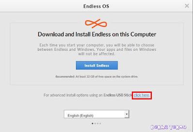 Proses-instal-os-endless