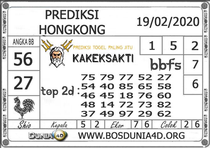 Prediksi Togel HONGKONG DUNIA4D 19 FEBRUARI 2020