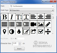 Cara Input Ikon Font Awesome Di Corel Draw 2