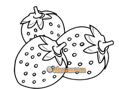tutorial mewarnai strawberry