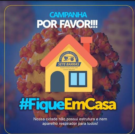 Prefeitura de Sete Barras  lança campanha #fiquememcasa.