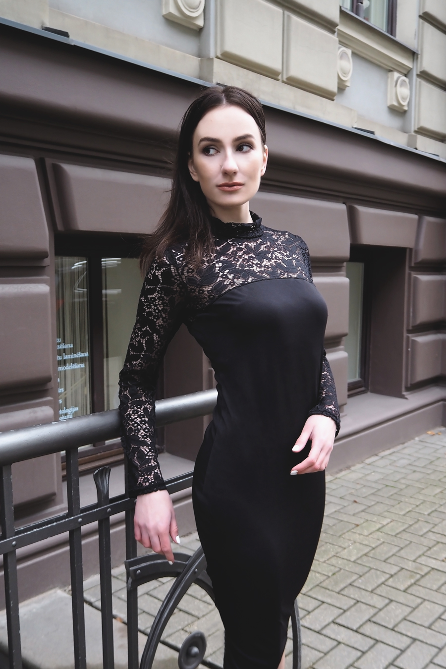 Light in the Box Black and Lace Dress