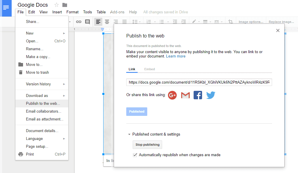 How To Download And Save Images From Google Docs - Google documents download