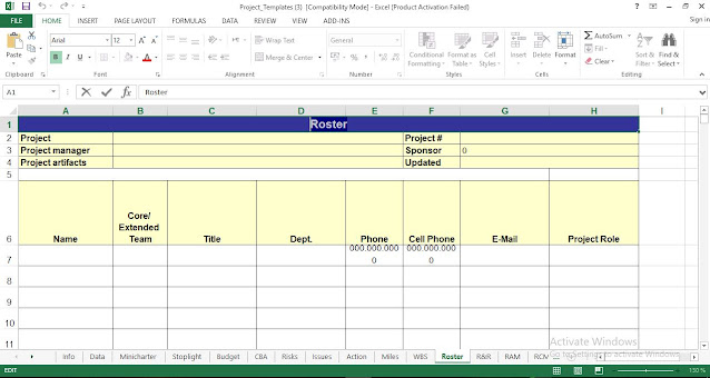 Roster Template Excel