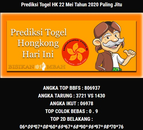 Prediksi Togel Hongkong Jumat 22 Mei 2020 - Bisikan Mbah