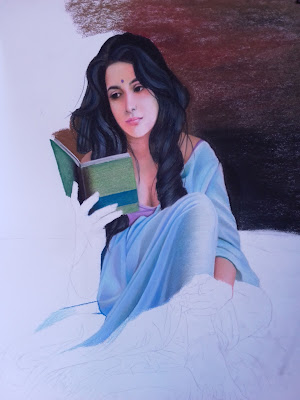 """Colored pencils work painting and thought by Manikraj Bhambure"