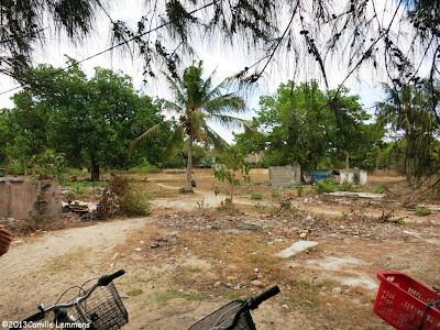 Empty plot of land on Gili Air, Indonesia