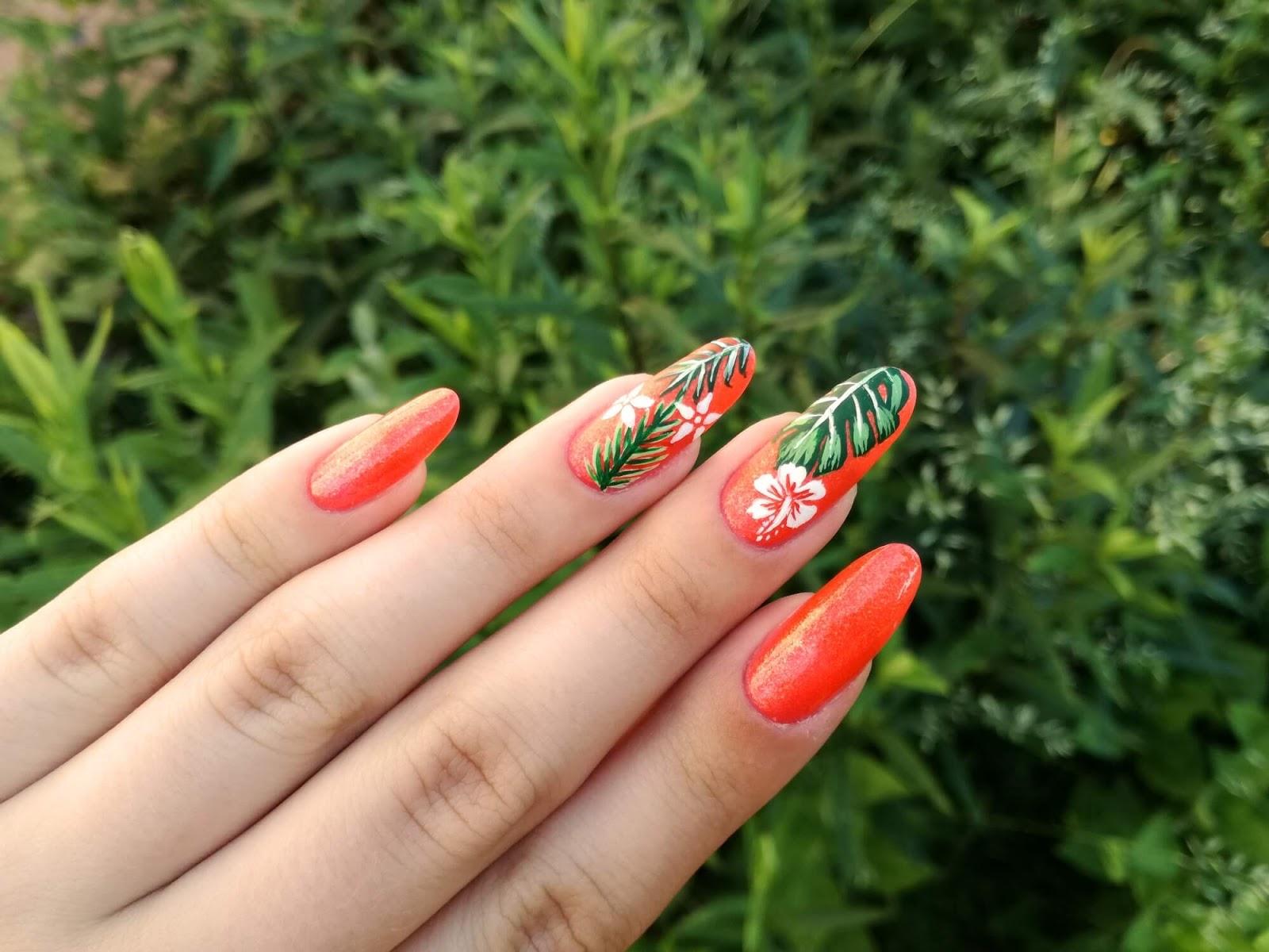 wakacyjne wzorki na paznokcie