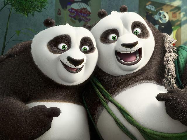 Po şi tatăl său Li în Kung Fu Panda 3