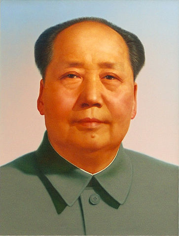 By Zhang Zhenshi (1914–1992). Mao Zedong portrait attributed to Zhang Zhenshi and a committee of artists (see [1]). - Intermediate source: http://www.flickr.com/photos/richardfisher/3451116326/, CC BY 2.0,