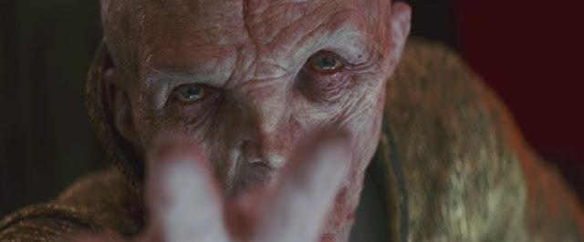 L'Empereur Snoke (Andy Serkis) dans Star Wars 8, Les Derniers Jedi, de Rian Johnson (2017)