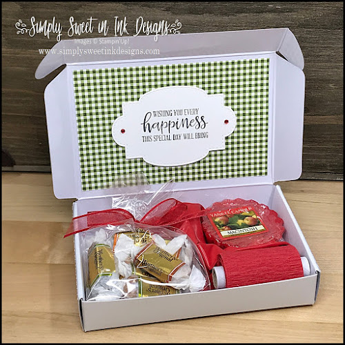 Need a quick gift? Make this fun Birthday-in-a-Box with the Harvest Hellos stamp set and Apple Builder punch.