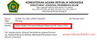 PENTING Surat Edaran Batas Waktu Pencairan/Aktivasi Rekening PIP Tahun 2020