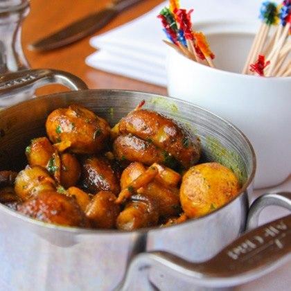 Butter Roasted Turmeric-Ginger Mushrooms