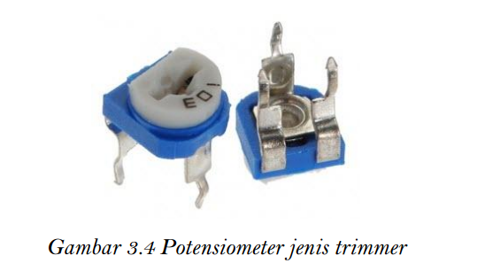 Potensiometer jenis trimmer