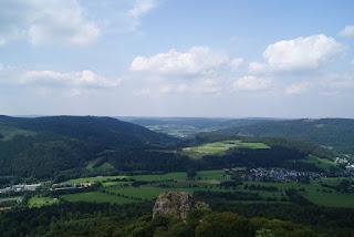 Blick vom Felsstein ins Sauerland
