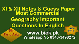 Commercial Geography Important Questions www.biek.pk