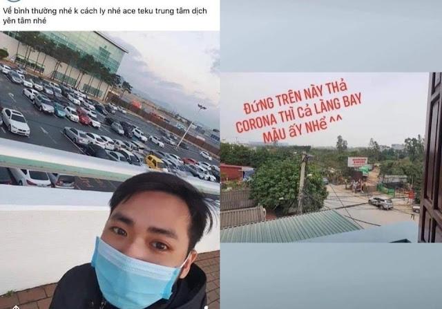 Nam thanh niên ở Hà Nội trở về từ vùng dịch HQ, dọa 'thả corona thì cả làng bay màu'