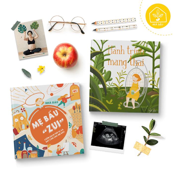 [A116] Combo sách Mẹ Bầu Zui: quà tặng sinh nhật ý nghĩa cho Bà Bầu