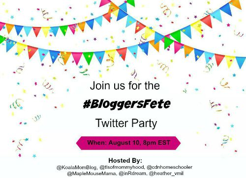 #bloggersfete, twitter party, blogiversary, tales of mommyhood, prizes, fun,