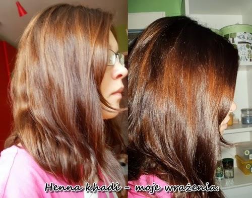 Efekt dwa dniu po farbowaniu henną Khadi Jasny brąz