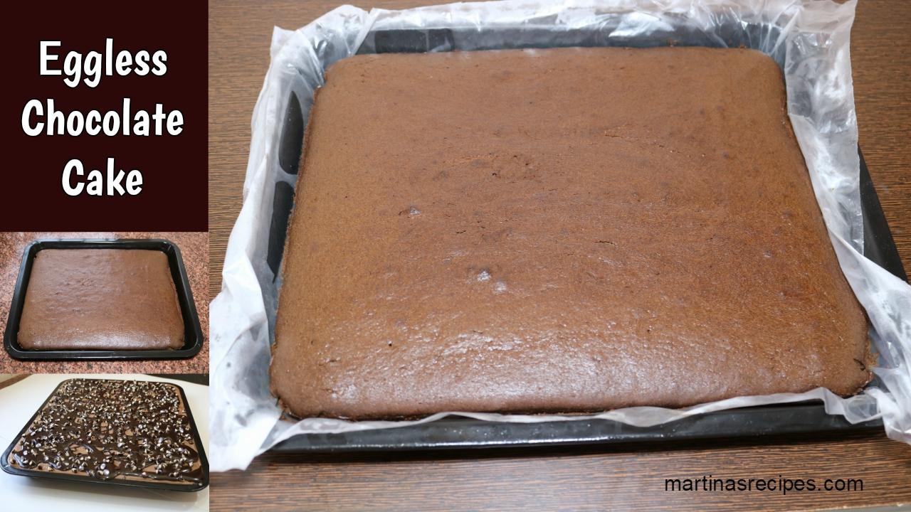 Martinas Recipes Eggless Chocolate Cake Hot Chocolate Cake