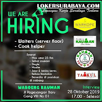 We Hiring at Waroeng Kauman Surabaya Terbaru Oktober 2019