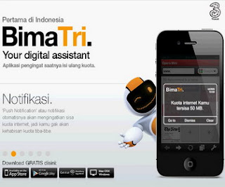 cara download bima tri