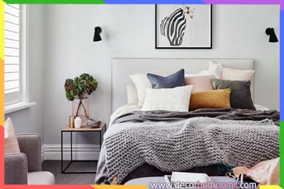غرفة نوم مرتبة بطريقة مودرن