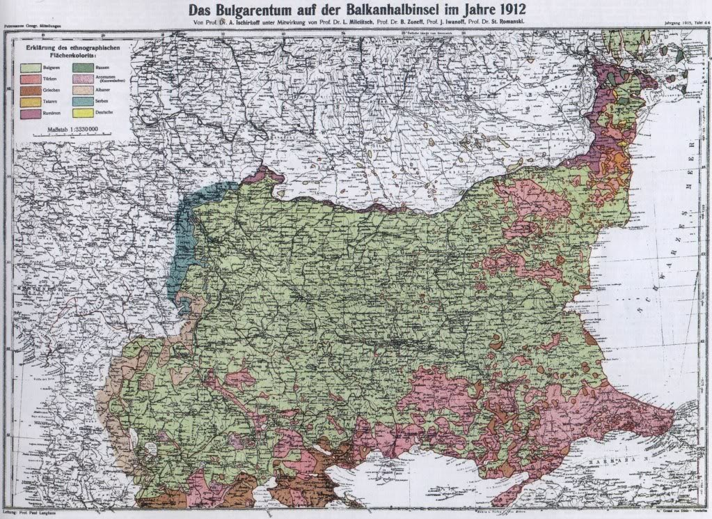 Bulgarian ethnographic map