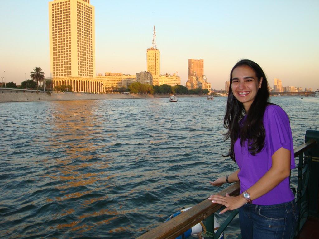 Jantar no barco no Rio Nilo...