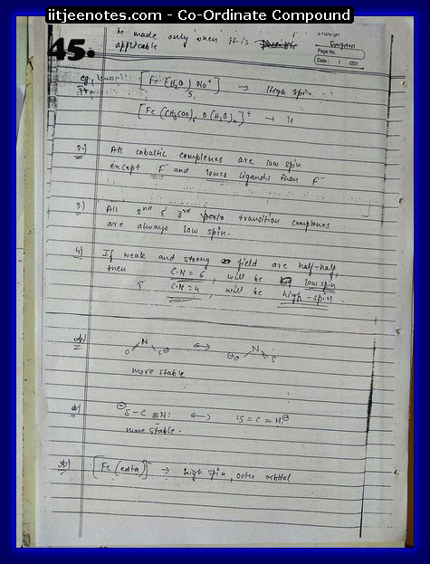coordinate compound chemistry notes5