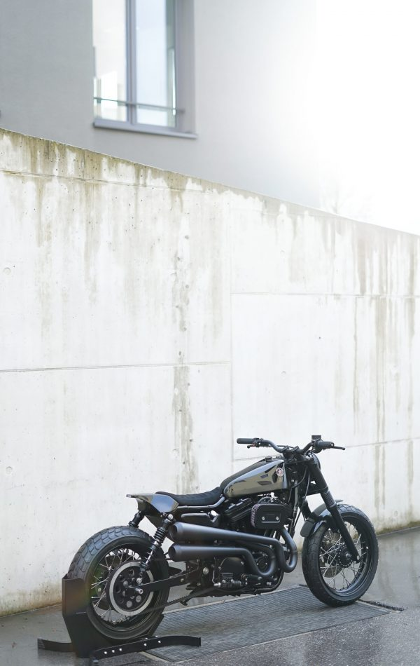 The Umbra - Custom Harley Davidson 883 Hugger by Crooked Motorcycles