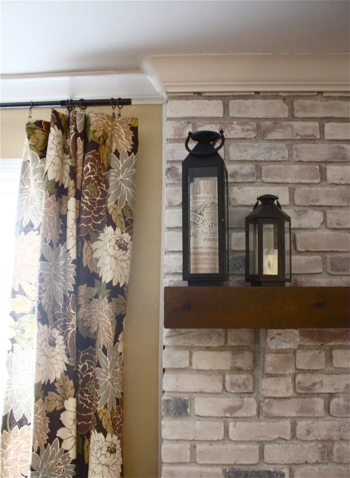 Whitewash Fireplace Before And After The Yellow Cape Cod White Washed Brick Fireplace Tutorial