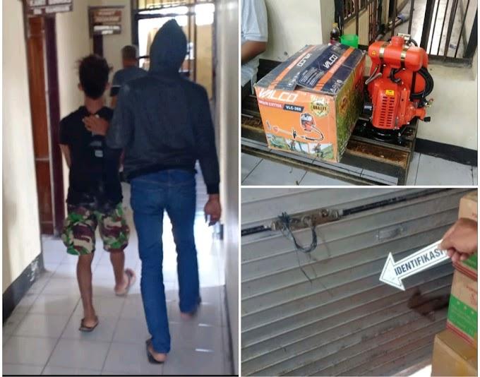 Gasak Mesin Potong Rumput di Toko, Pemuda Ini Diamankan Ke Polsek Manggelewa