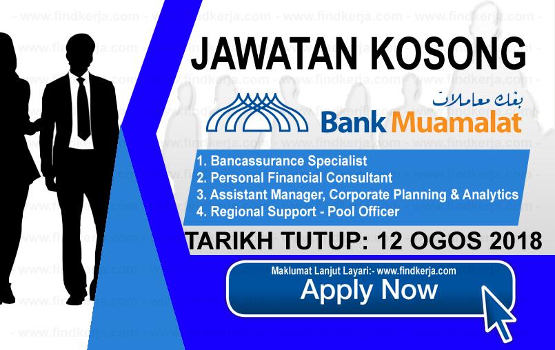 Jawatan Kerja Kosong Bank Muamalat Malaysia logo www.ohjob.info www.findkerja.com ogos 2018