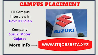 ITI Campus Placement in Govt ITI Solan