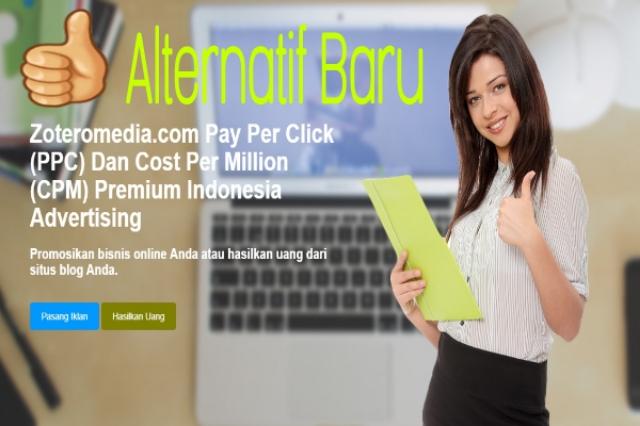 Zeteromedia Alternatif Google Adsense Cpm Dan Ppc Indonesia Terbaik