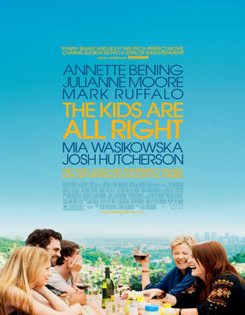 Poster Of The Kids Are All Right 2010 English 300MB BRRip 480p ESubs Free Download Watch Online Worldfree4u
