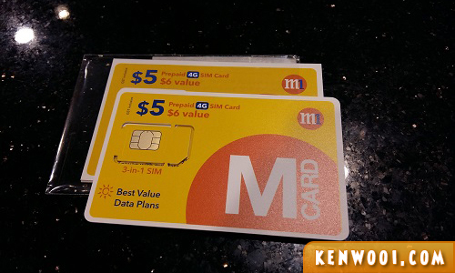 singapore m1 sim card
