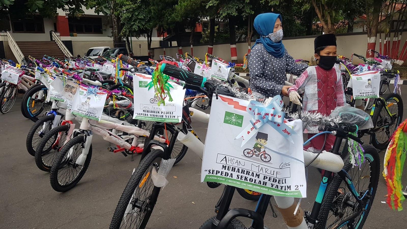 Lazisnu : Bantuan Uang Tunai Diubah Jadi Bagi-bagi Sepeda Sekolah