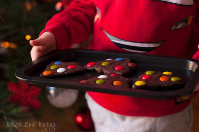 Galletas navideñas de chocolate