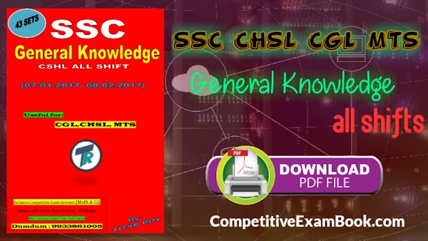 [PDF] SSC CHSL General Knowledge All Shift Download