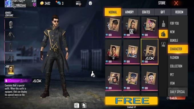 फ्री Dj Alok देने वाला app | App to get DJ Alok character in FF for free