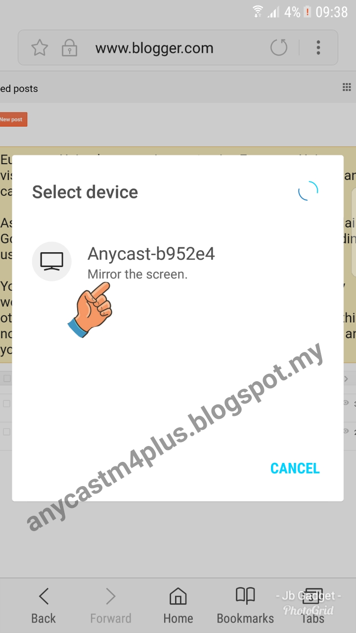 Anycast M4 Plus Miracast Sample For Android